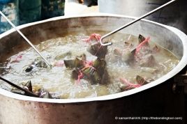 Boiling the dumplings takes about 2 to 3 hours.