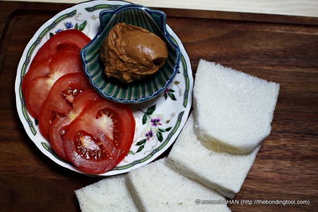 Peanut Butter Tomato Sandwiches.