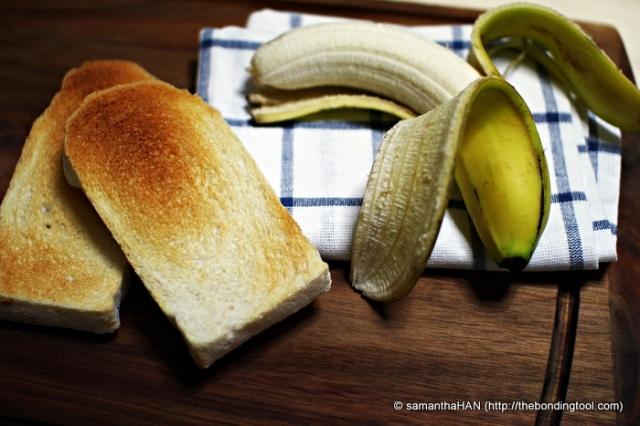The toasts were ready, so's my banana.