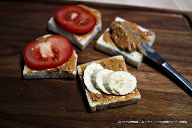PBT, Peanut Butter Tomato Sandwich... Made my Banana paled in comparison literally!