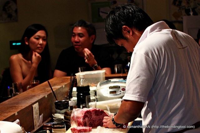 Eyes on him - Wagyu beef! Oh mine!