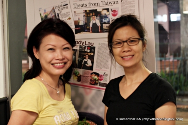 8 Degrees is a family-run business. Pamela Lau and I.
