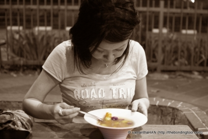 Taste like Tang Yuan's soup.