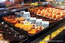 Eclairs, Mini Fruit Tarts, Lamingtons, Doughnuts, Bombolini Donuts