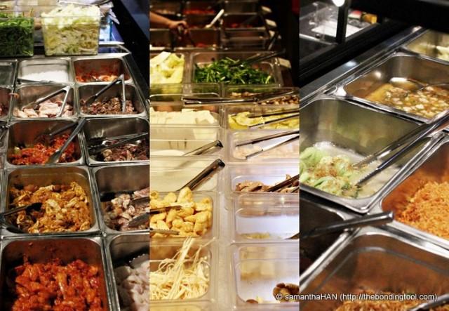 Buffet style Korean BBQ.