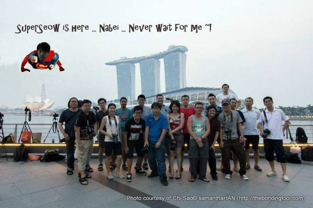 Seow Hong was late and missed the group photo session.