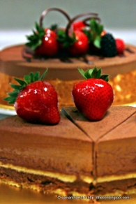 Chocolate Mousse and Strawberry, delighting you always!