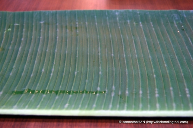 "The official ""plate"" in a banana leaf restaurant is of course the Banana Leaf."
