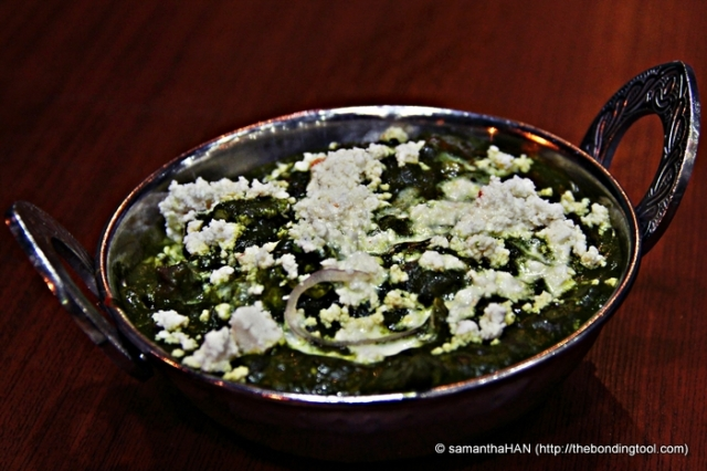 My side dish of Palak Paneer (Spinach Paneer) S$10