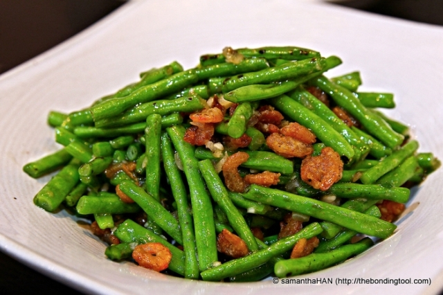 Sautéed French Beans with Dried Shrimps - S$14