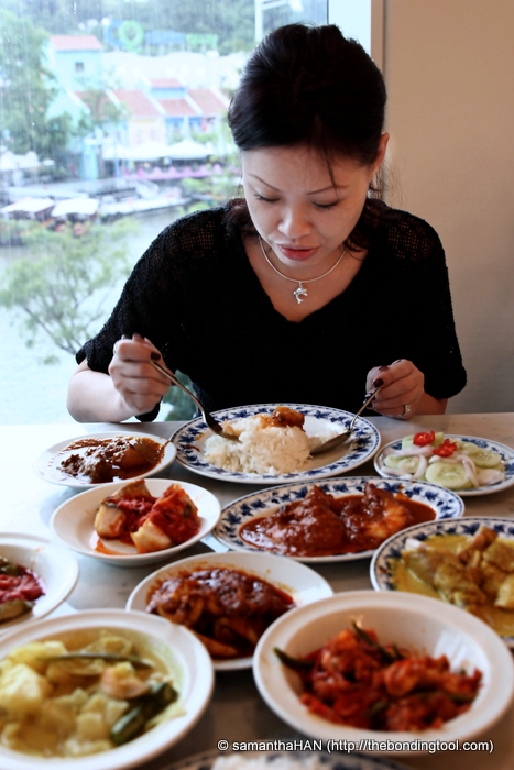 """Our table was full of """"sampling"""" dishes. It's like what a rice table in Indonesian padang shop would serve except here, you cannot return """"uneaten"""" dishes."""