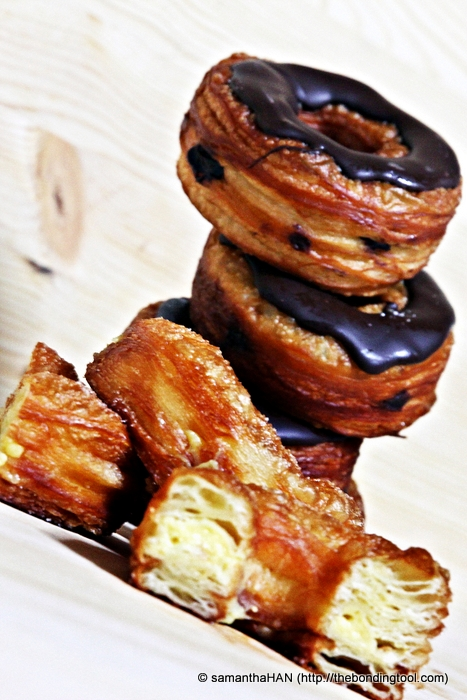 The hybrid pastry, half croissant and half doughnut, by Chef Ansel, took the world by storm. Featured here were Crodos not Cronut™.