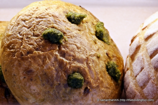 Pesto and Pine Nuts Bread