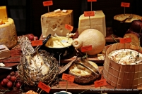 All kinds of Italian cheeses you can find here. Some familiar, others not.