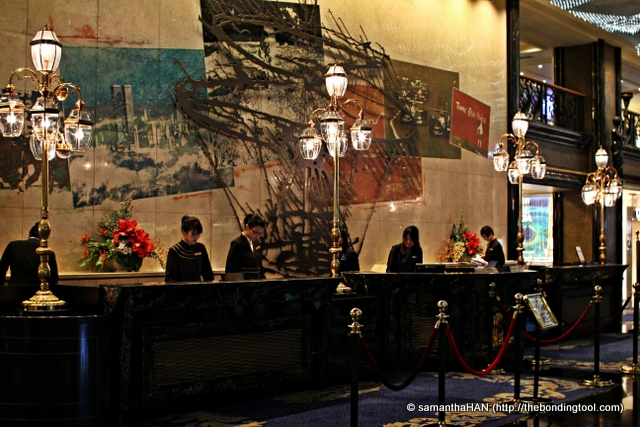Reception at The Landmark Macau where we stayed.