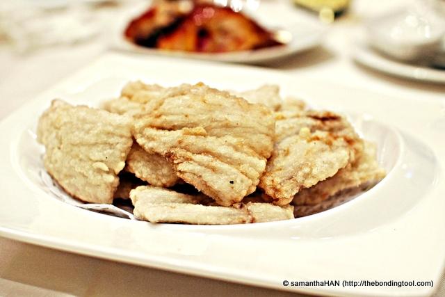 九肚魚 literally translated to 9 stomach fish. It's a kind of whitish and very sweet tender fish.