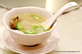 Angle Luffa and Wintermelon soup.