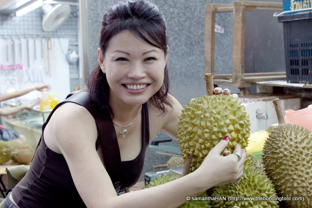 Who knows the future? Since eating durian is an acquired taste, I just might become a convert!