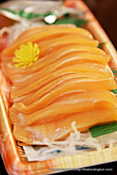 Salmon Sashimi bought from supermarket.
