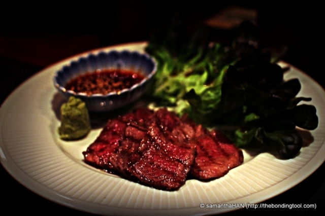 Moist juicy and tender thin slices of Beef to be eaten with the teriyaki dip and butter lettuce.
