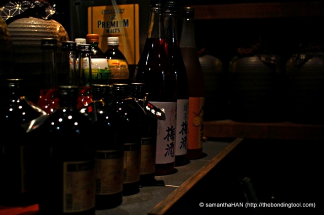 Japanese Sho Chu, Plum Wine and more Sake. The fish presented today weren't too oily. But if they were, some sake would do the job nicely.