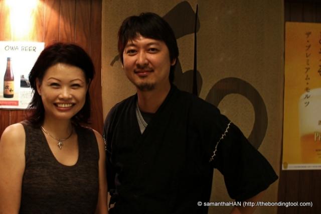 Chef Sato and I.