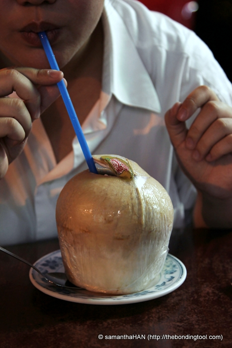 Refreshing Young Coconut drink imported from Thailand - S$4.80