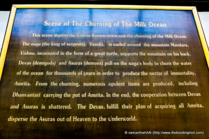 Short description of The Churning of the Ocean of Milk.