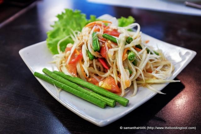 Som Tum Thai - Thai Papaya Salad at 130 baht.