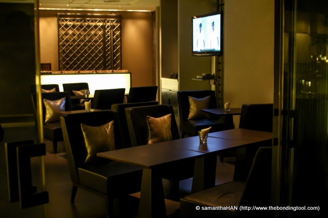 Soma bar area isolated from the main dining hall. You can watch live telecast of cricket matches here.