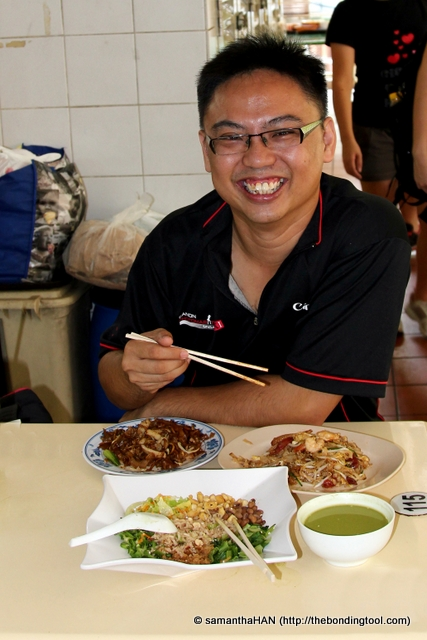 Rickey had confided he doesn't like Lei Cha so he ordered a local as well as Penang (paler version) of CKT.