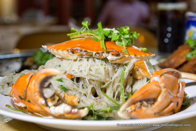 Fried Crab Bee Hoon (rice vermicelli). Our crab was around 1 kg and the dish cost us S$52.50