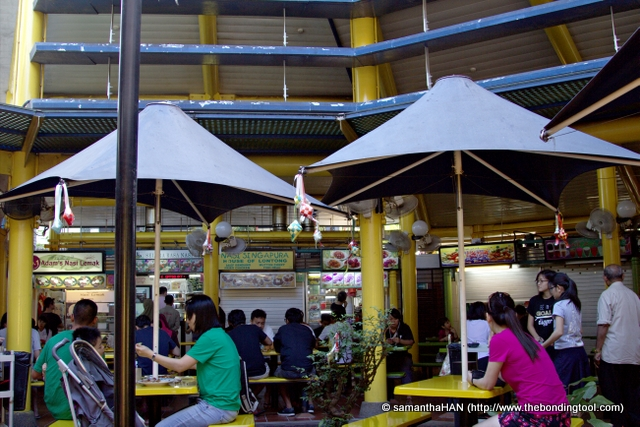 Adam Road Food Centre, Singapore. Built in 1974, Adam Food Centre comprises 32 cooked food stalls. Although small in size, the hawker centre has a huge reputation for Nasi Lemak, Prawn Noodles (Soup), Roti Prata and BBQ Seafood.