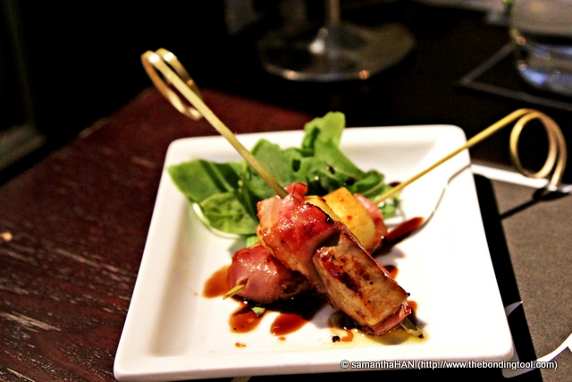 Foie Gras on Skewers - S$5 Came in a set of two.