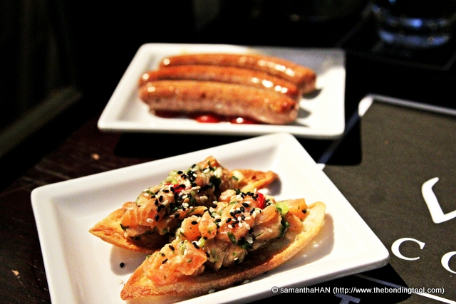 Our final order of BBQ Sausage and Salmon Ceviche.
