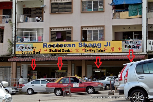 I started eating from left to right. And even jumped over to another restoran at the end of the block for my 4th meal.
