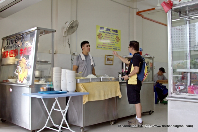 Tony did a post on Tin & Tin Beef Noodles before and since we are here, perhaps it was a good time for him to do a review while I get to taste and do a maiden post of this stall for my own blog.