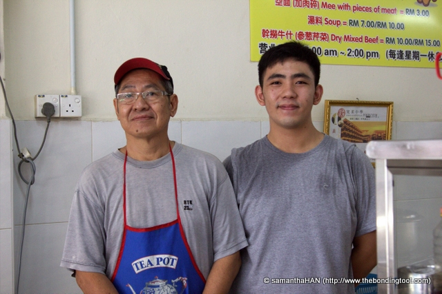 Ah Teng and son, Kevin.