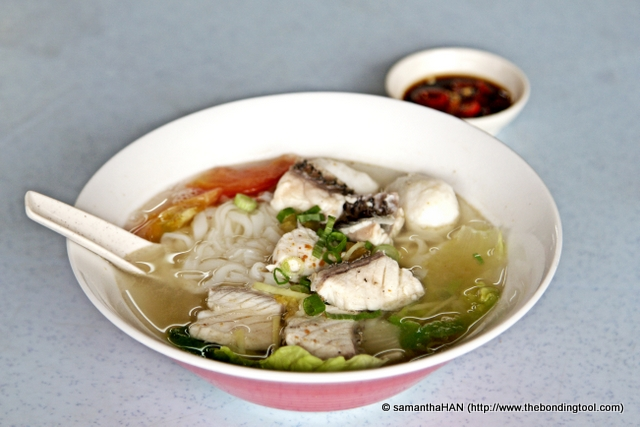 We had the fish soup with kway teow (rice noodles).