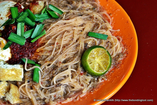 Indian Mee Siam. There are different types of Mee Siam, Chinese (Nonya), Malay and Indian. The Indian Mee Siam is less sour and some contains coconut or evaporated milk.