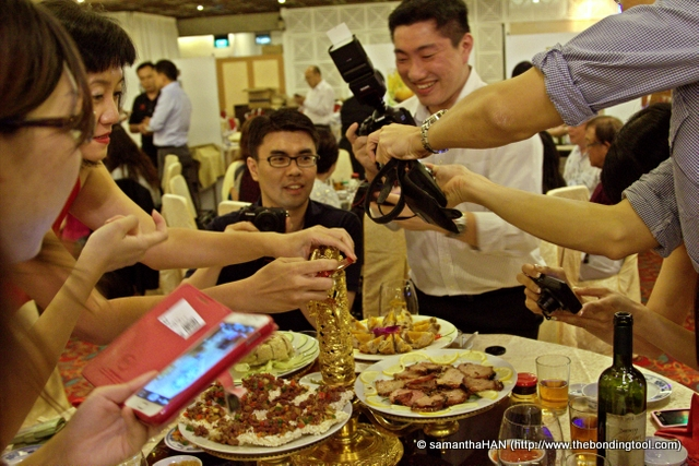 But wait! This was the food bloggers table and so the usual snapping took place before we ate.