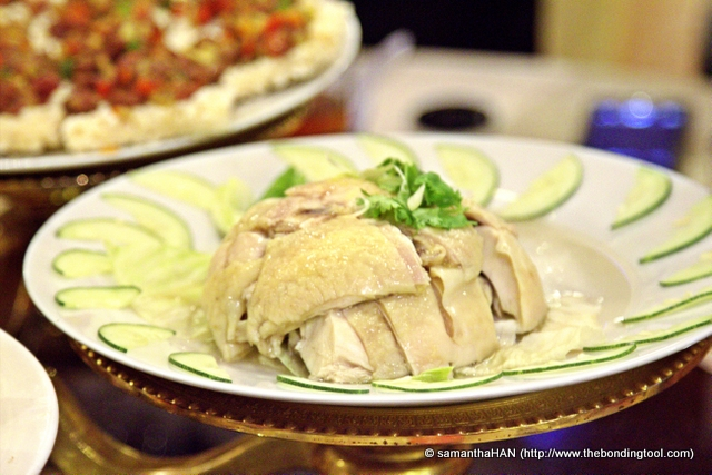 Drunken Chicken - the chicken was vitally infused with the natural strength of Chinese wine.