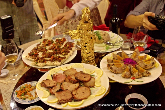 The banquet of Nostalgic Cantonese Cuisine began with the serving of 4 starters.