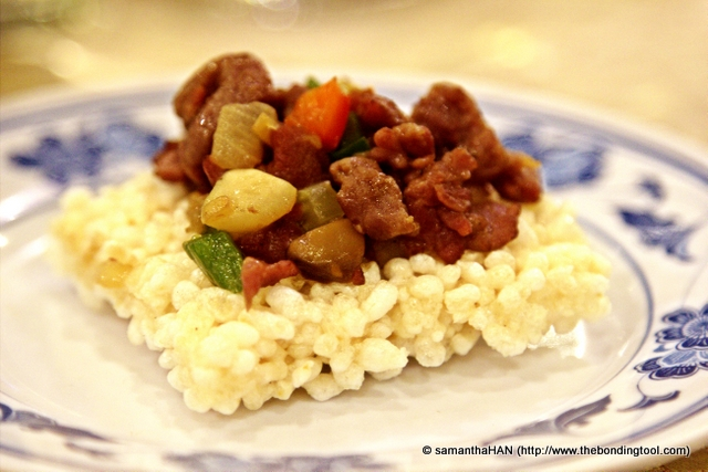 Instead, we had well marinated diced Venison with quick stir-fried vegetables that retained juicy crunch. There were capsicums, onions, mushrooms and carrots.