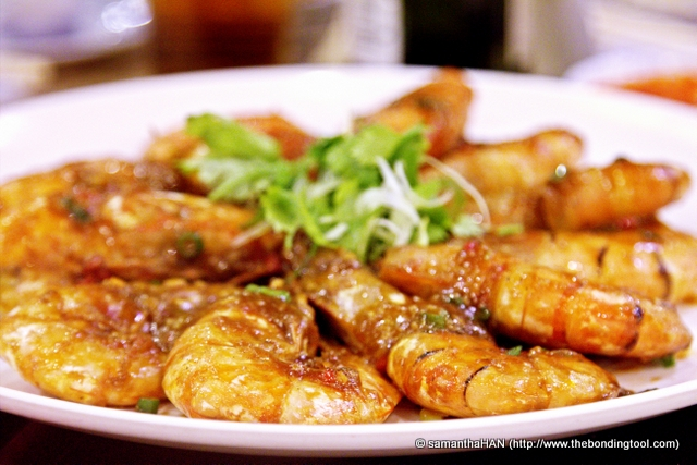 Wok-fried Jumbo Prawns.