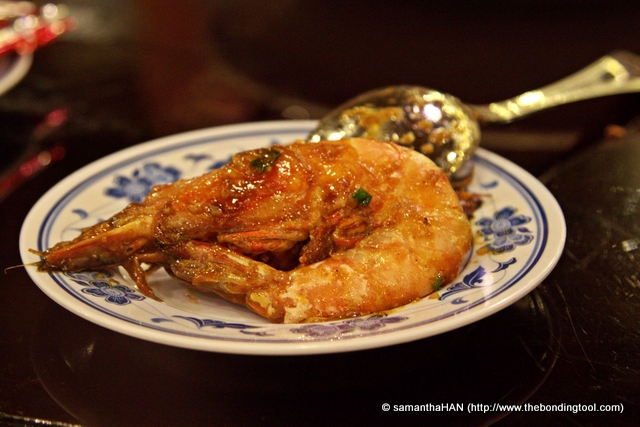 "Prawn dish is also a must-have in Chinese banquet.<br />嘿哈(虾)大笑 - a Canotonese homophone ""哈 - ha"" for laughter sounded like ""虾 - ha"" (prawn). Literally translates to ""Heehaa Big Laugh"".<br />The host hereby wishes his/her diners a life full of joy and laughter. Bigger prawns are always used for this dish and you can guess why."