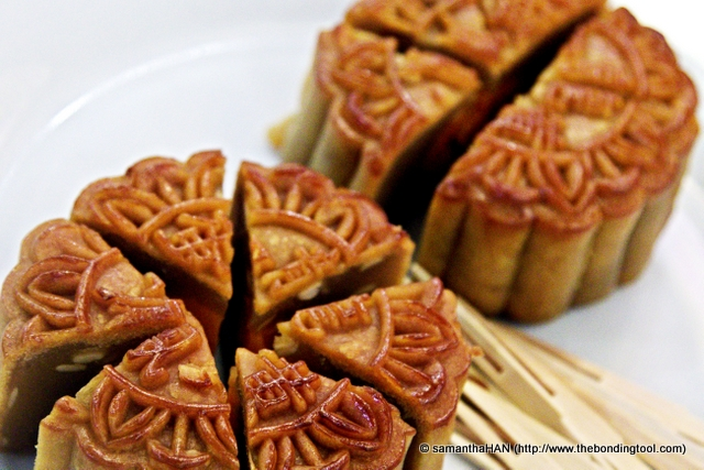 Traditional Mooncakes are baked.