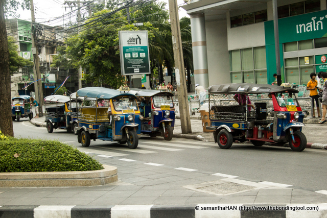 Tuk Tuk. The best way to get around but be prepared to haggle over the price. You won't save much money but it's quite fun to bargain.