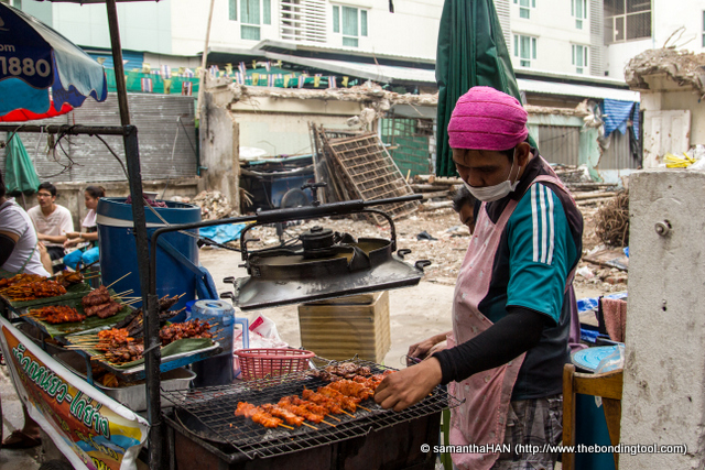 Bangkok's air can be very polluted and if one has to be on the street for long, one usually puts on a facial mask.
