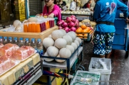 Besides young coconut, Orange and Pomegranate Juice (50 baht) are also popular.